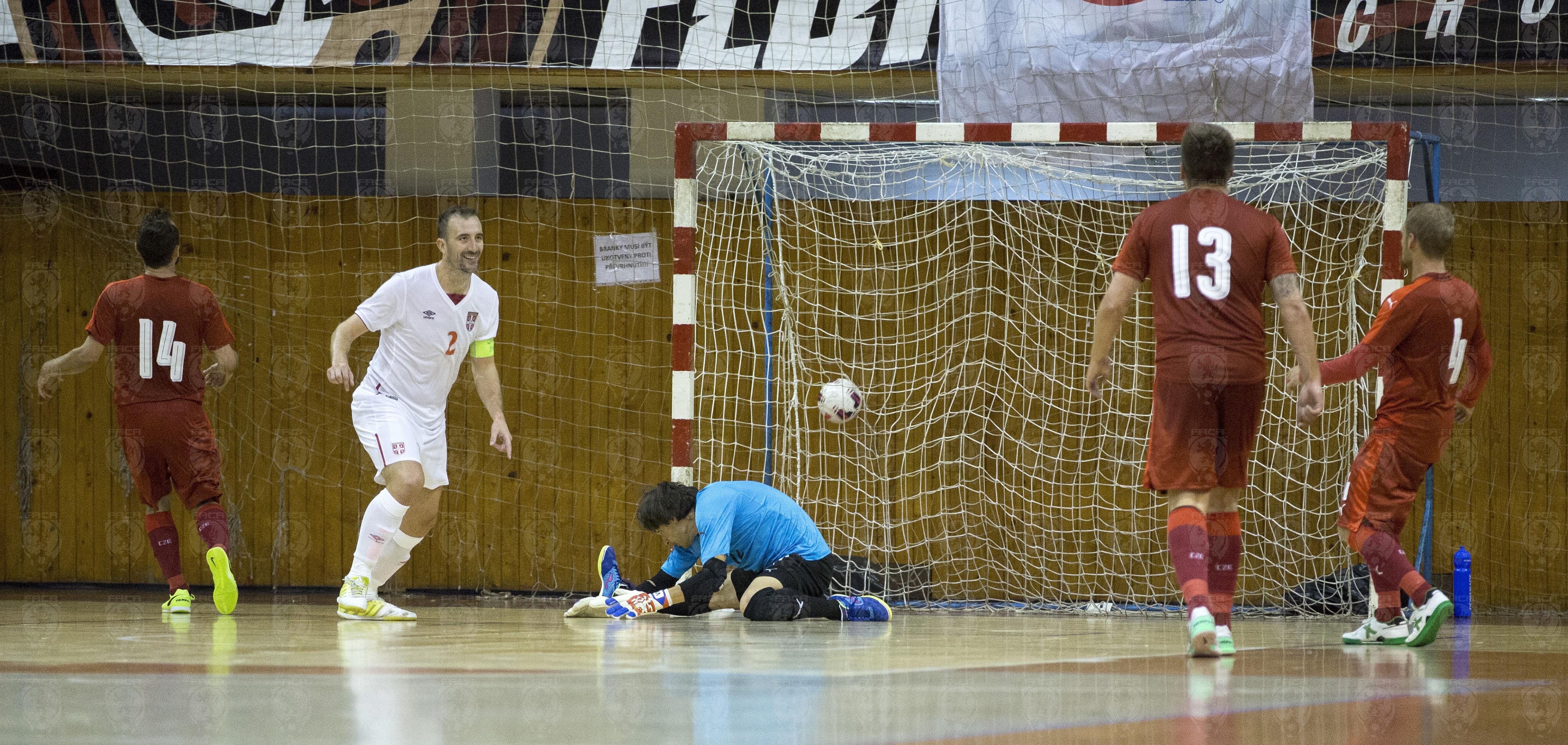 Slikovni rezultat za futsal  česka srbsko